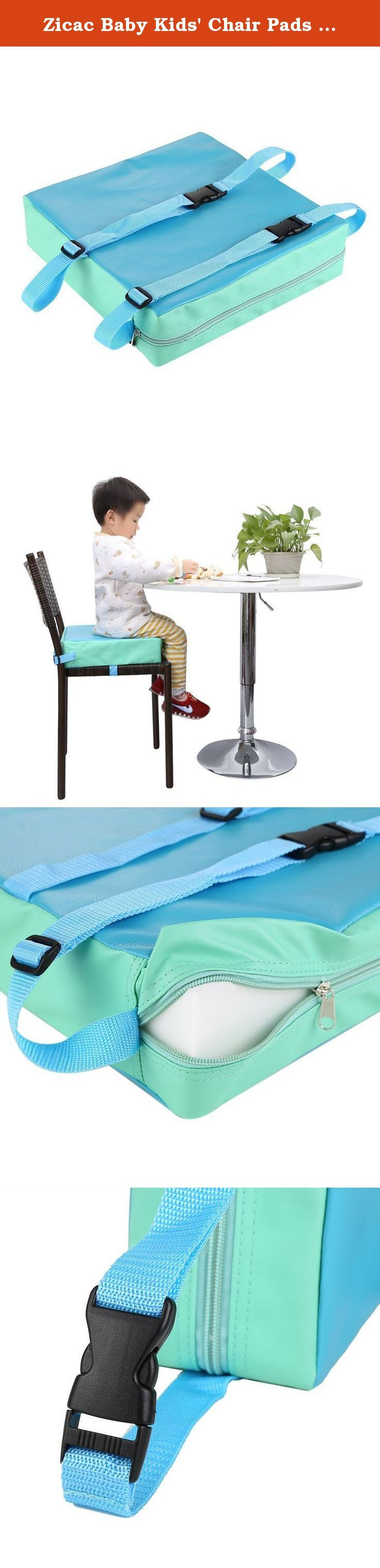 """Zicac Baby Kids' Chair Pads Chair Increasing Cushion Dismountable and Adjustable Booster Seat Mat (Blue). Color: Green / Red / Blue Size: 31.5 x 31.5 x 8cm / 12.4""""x12.4""""x3"""" Material: synthetic leather, high density sponge Washing:Hand wash It is designed for children who can sit unaided at a table.It has 2 safety straps with clips which fasten under the chair and will fit most dining chairs. Packaging including 1 x Pad ."""