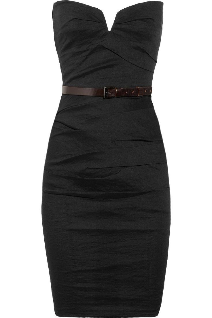 Strapless stretch linen-blend dress: Http Berryvogue Com Dresses, Black Dresses, Black Strapless Dress, Strapless Black Dress, Colored Belt, 1 000 Dress