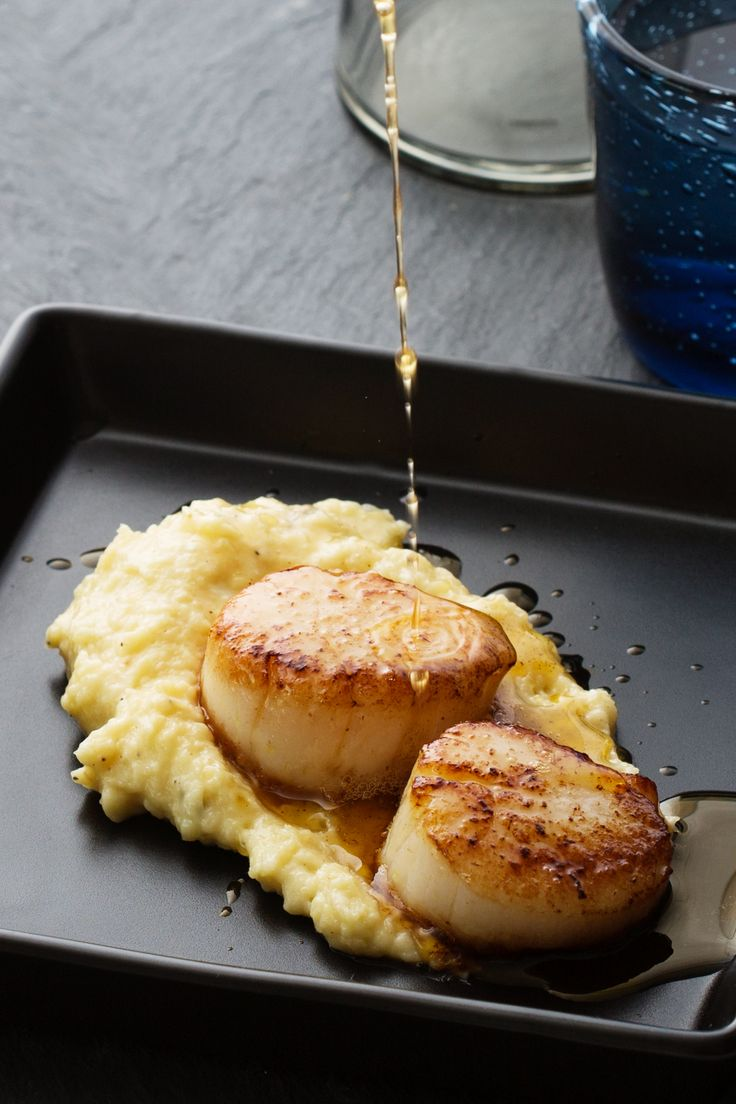 Scallops with Parsnip Puré and Browned Butter