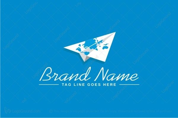 Logo for sale: Paper Airplane Logo