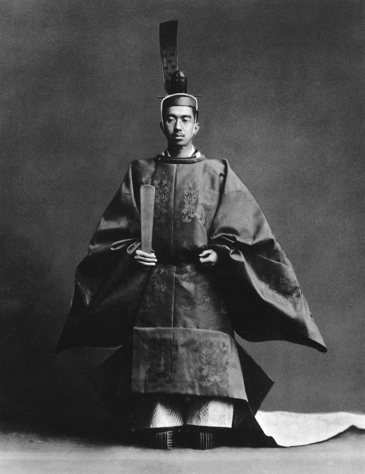 Emperor Shōwa of Japan after his enthronement ceremony, 1928.