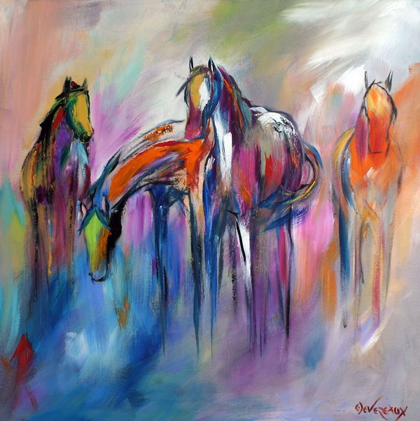 horse, paintings, colorful, abstract, caballo, pinturas, colorido, abstracto