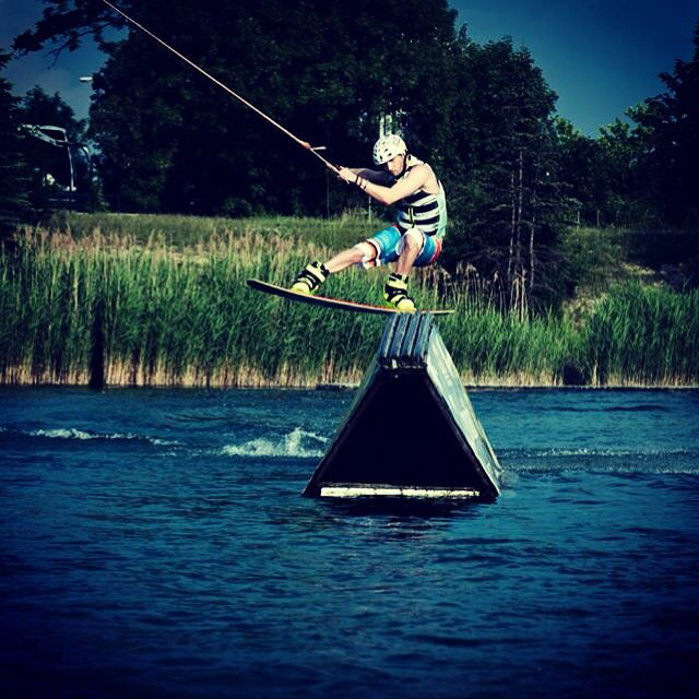 Wakeboarding, playing on water..,