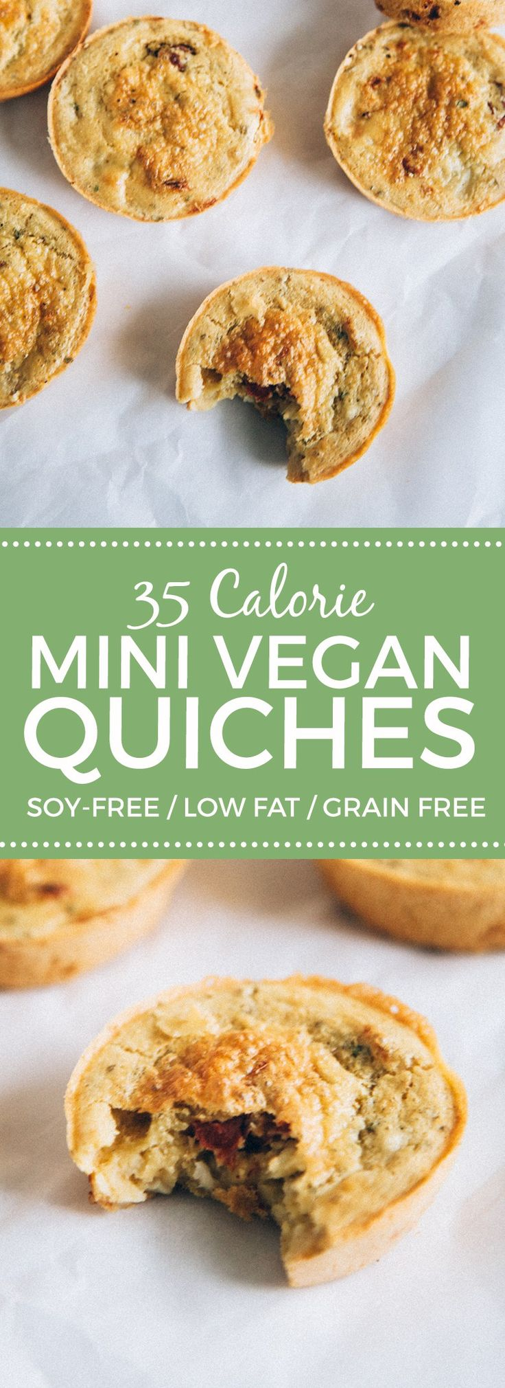 35-Calorie Mini Vegan Quiches #glutenfree #grainfree #soyfree