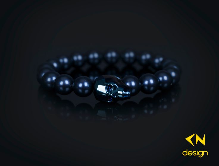 Swarovski Crystal Skull & Night Blue Pearls Charm Bracelet by Cndesignofficial on Etsy https://www.etsy.com/listing/260441393/swarovski-crystal-skull-night-blue