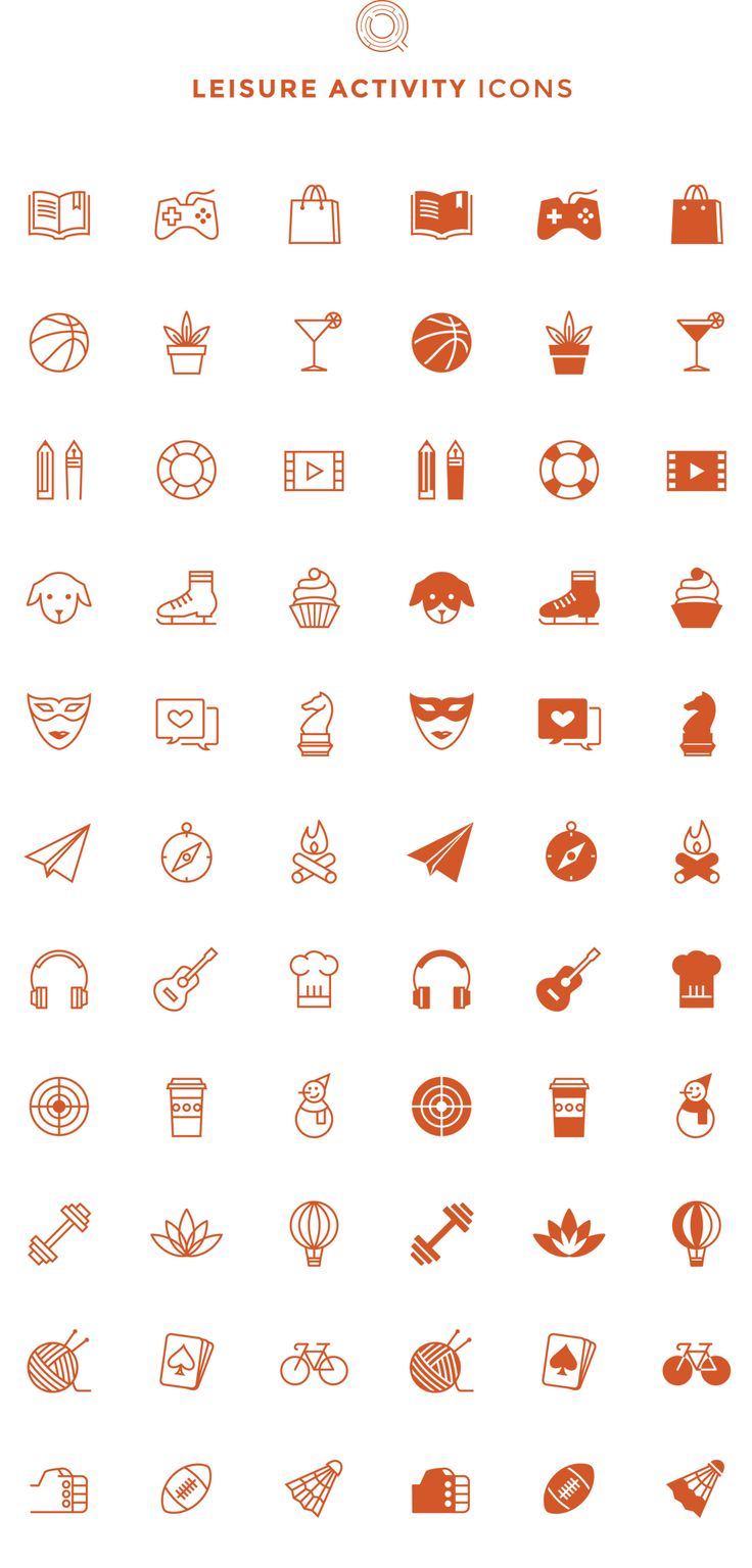 Free Line & Filled Leisure Activity Icons