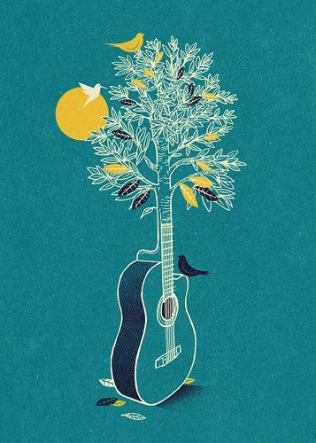 music/nature illustration