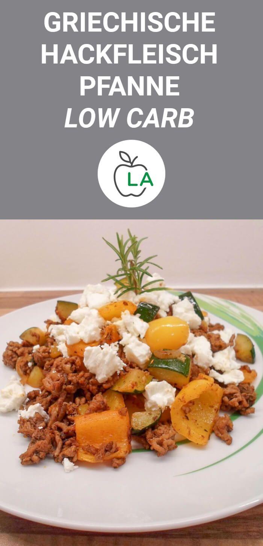 Diese Hackfleisch Pfanne mit Gemüse und Feta Käse ist gesund, Low Carb und kal… – Rezepte