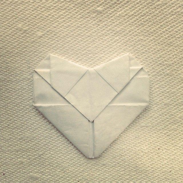Corazón Origami de la suerte