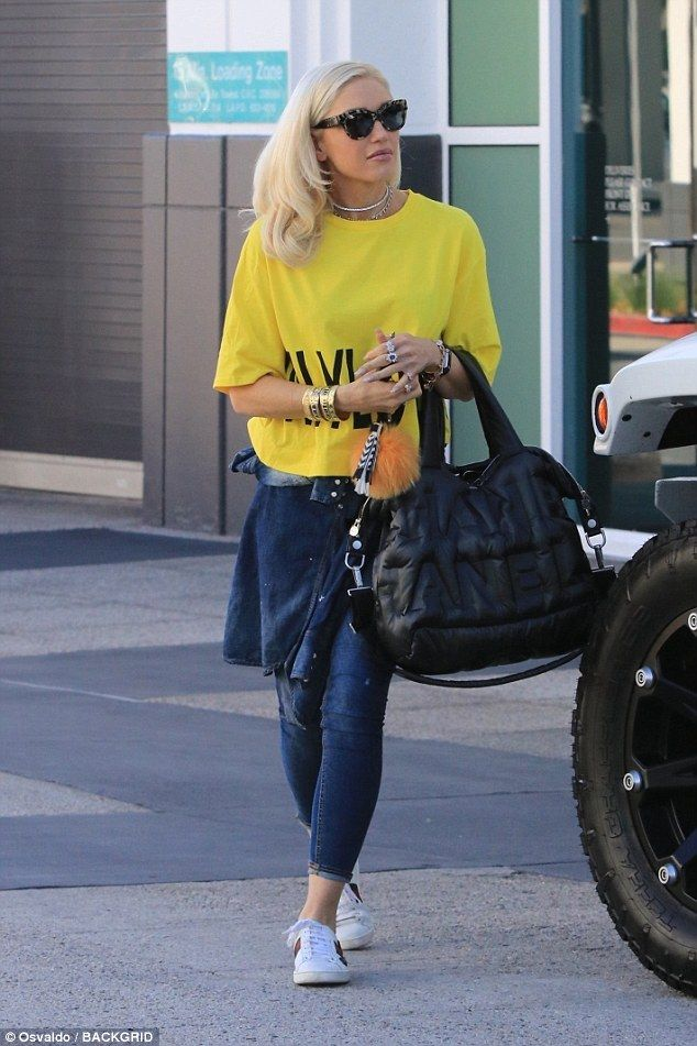 Hot stuff! Gwen Stefani kept a far more casual appearance as she tended to errands in the ...
