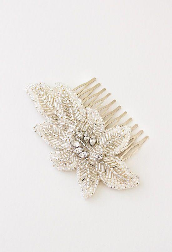 AINSLIE | silver wedding hair comb