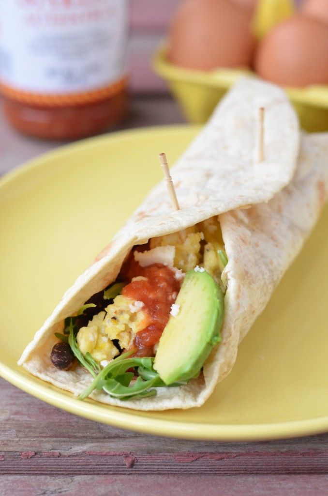 Quick and easy Vegetarian Breakfast Burritos are ready in 10 minutes flat