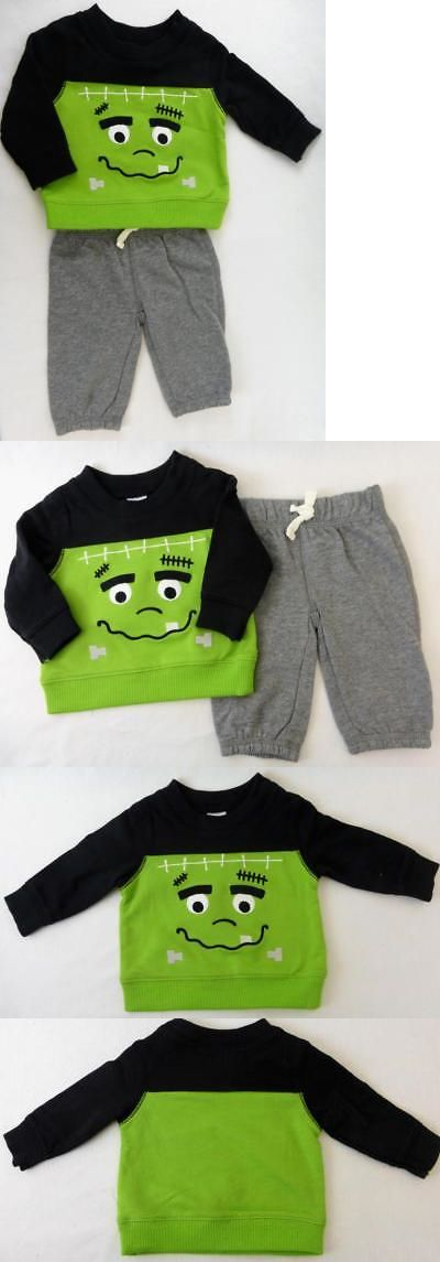 Outfits and Sets 163427: Carters Halloween Monster Shirt And Gray Pants Green Black Size 24 Months 2 Pcs -> BUY IT NOW ONLY: $31.99 on eBay!