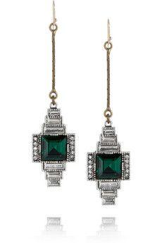 Emerald earrings by Lulu Frost