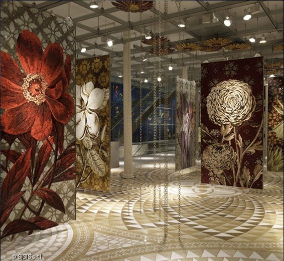 This Is The Flower Line Of Tile Mosaics By Sicis Featured In Their New York  Showroom