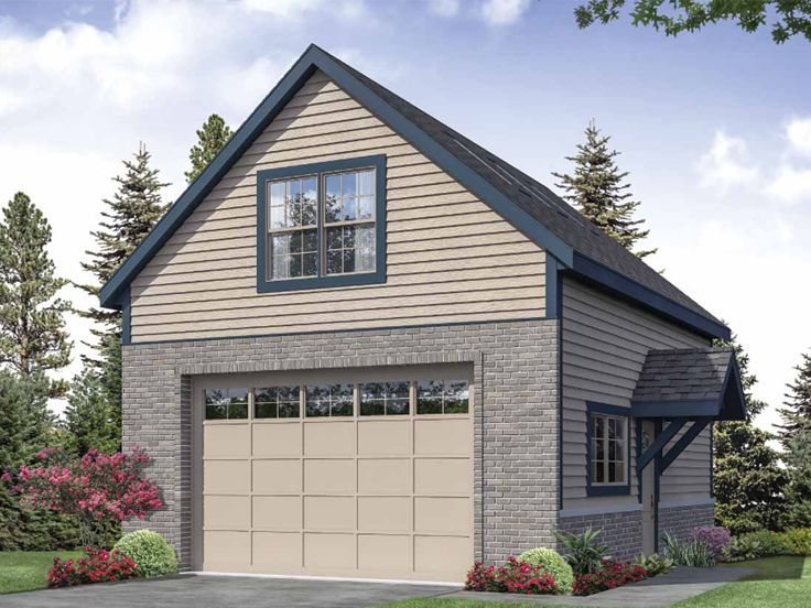 051g 0122 Garage Loft Plan With Extra Deep Bays 27 6 X30 Garage Plans Detached Garage Plans With Loft Garage Plan