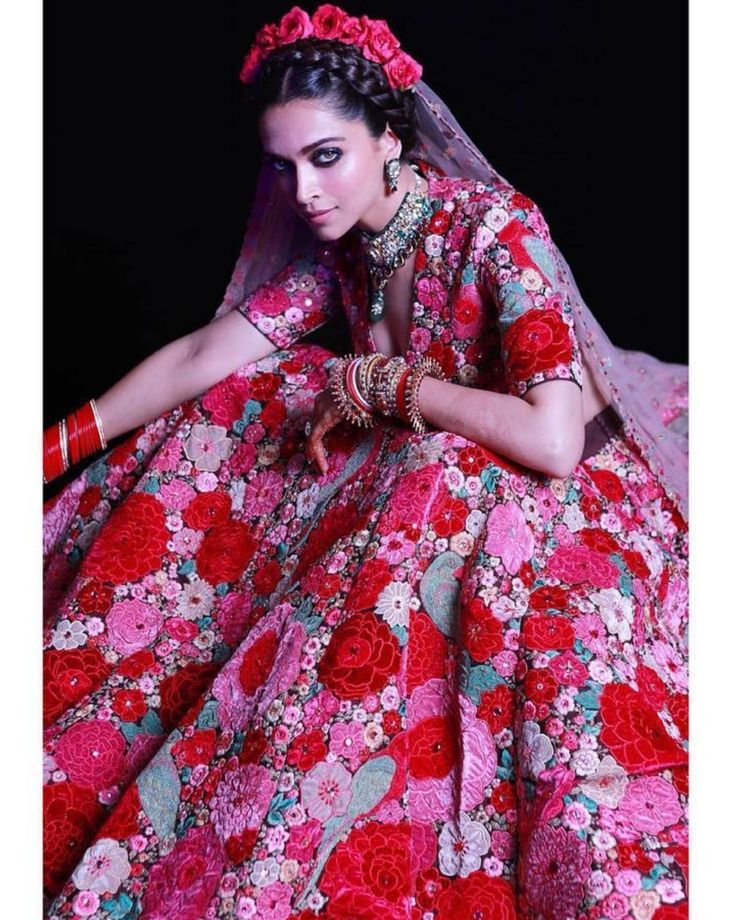 Deepika Padukone head-to-toe in Sabyasachi for her post ...