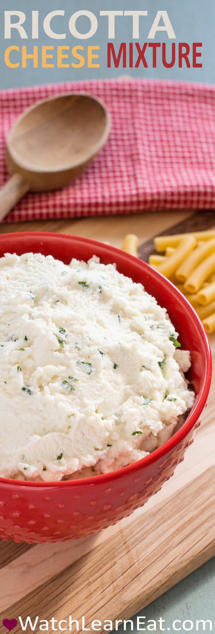 This ricotta cheese mixture features mozzarella and Romano cheeses and is perfect for your favorite Italian baked dishes - lasagna, baked ziti and more.