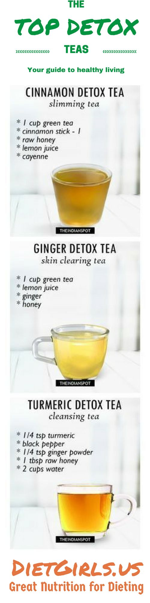 Teas are amazing drinks and vital for natural weight loss by detoxing. Teas are capable of providing several different benefits while you follow your detox regimen. They can cleanse your