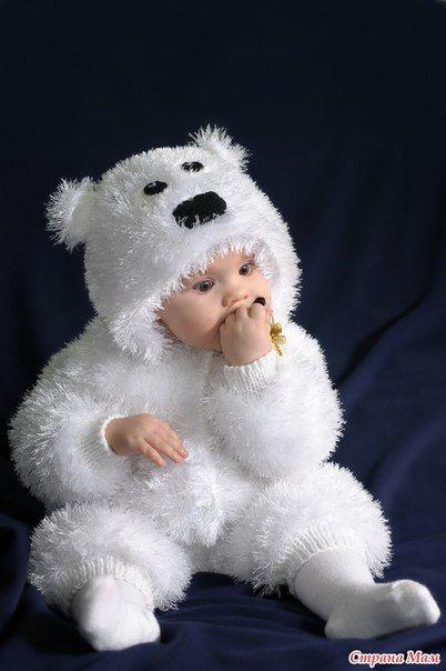 Мобильный LiveInternet Костюм мишка Умка для малыша спицами | Сказочная_петелька - Петелькин Сундучок со Сказками. |