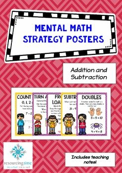 Mental Maths Strategy Posters - Addition and Subtraction