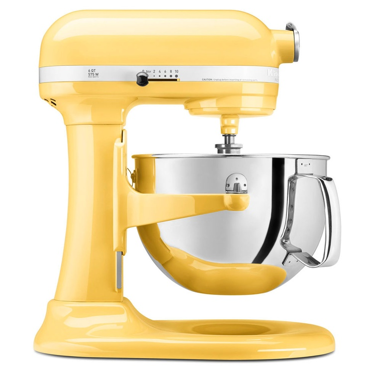 KitchenAid Pro 600 6 qt Stand Mixer In Majestic Yellow >> Awesome.
