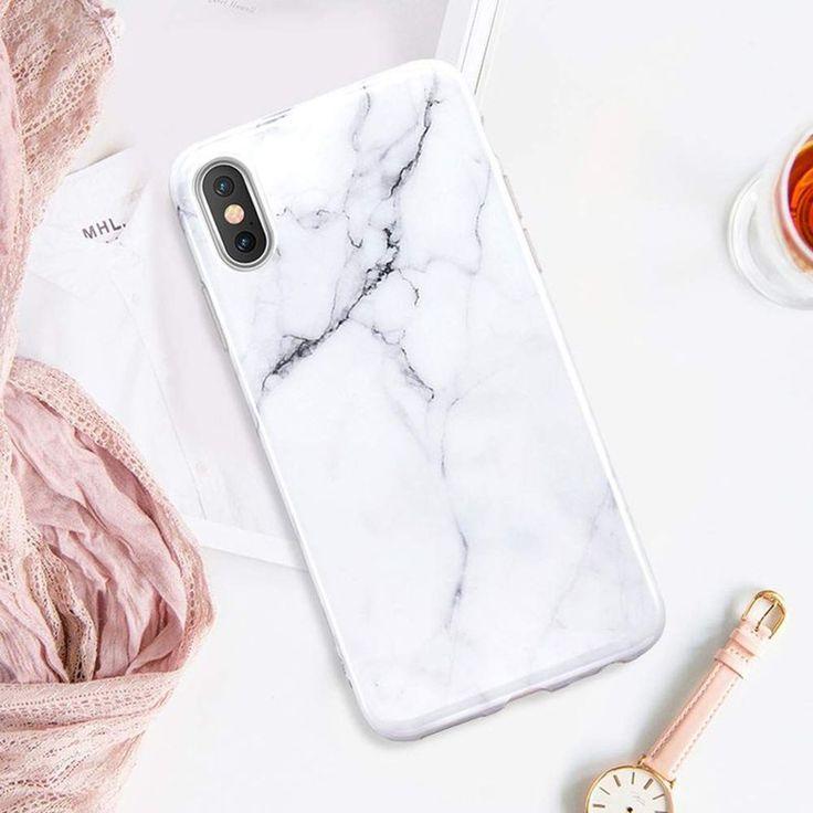 Coque Marbre Gris Avec Support À L'arrière Pour Iphone X/xs – Taille : Taille Unique