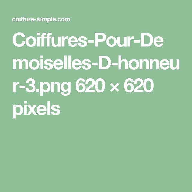 17 meilleures id es propos de coiffures demoiselles d 39 honneur sur pinterest chignon de - Coiffure pour demoiselle d honneur ...