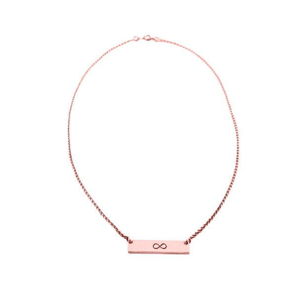 fine chain necklace | rose gold plated | infinite