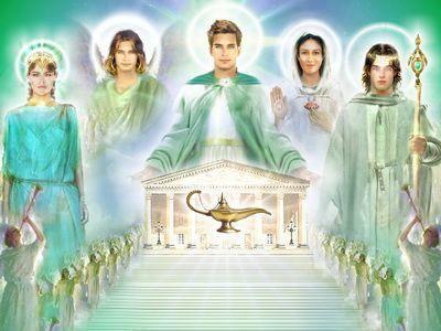Raio Verde: Amados Mestres de Luz, Hilarion, Matilde, Maria, Rafael, Ciclope e Vista