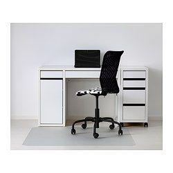 """MICKE Desk, white - 41 3/8x19 5/8 """" - IKEA"""