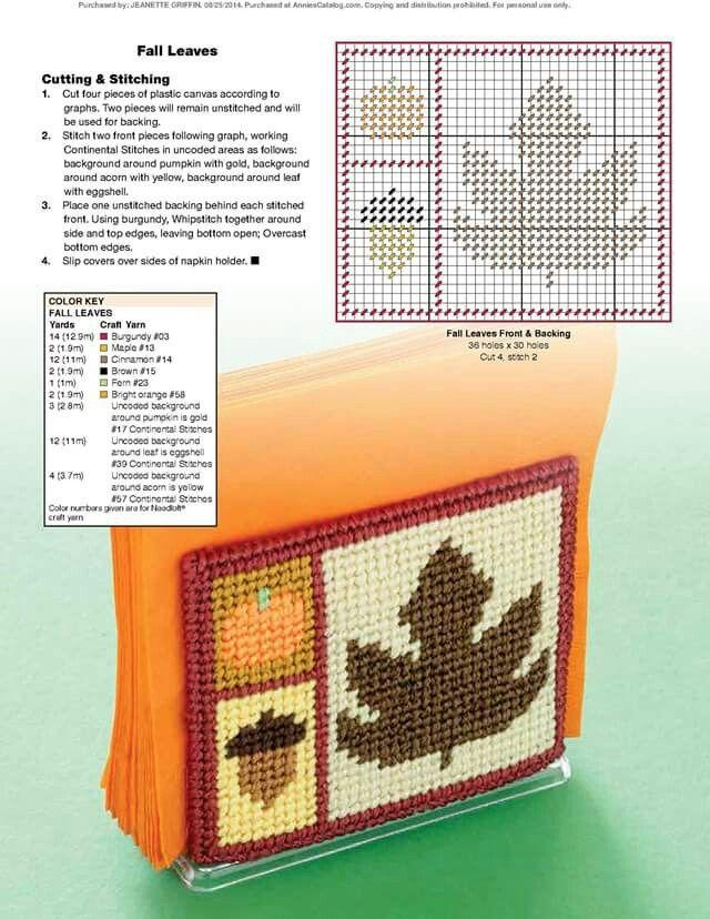Seasonal napkin holder 3/4