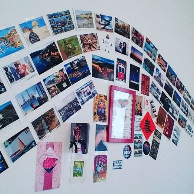 "#postcards and #stamps  tells - ""You are living your life""  #wanderlust #traveller"