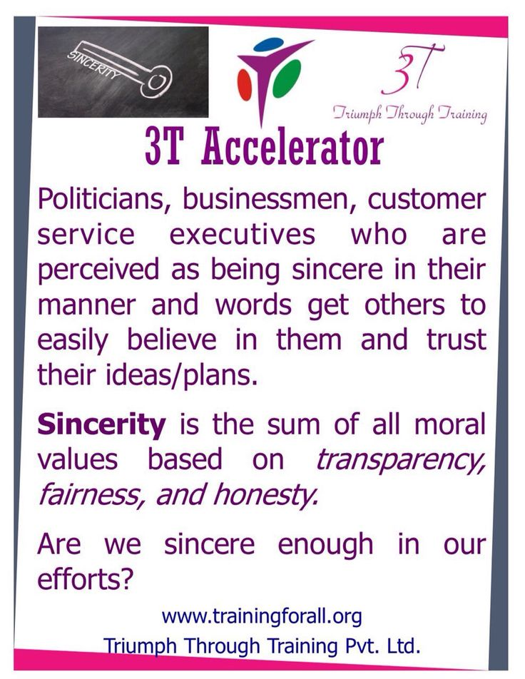 #3t_accelerator of today is on benefits of being sincere in life. #triumphthroughtraining
