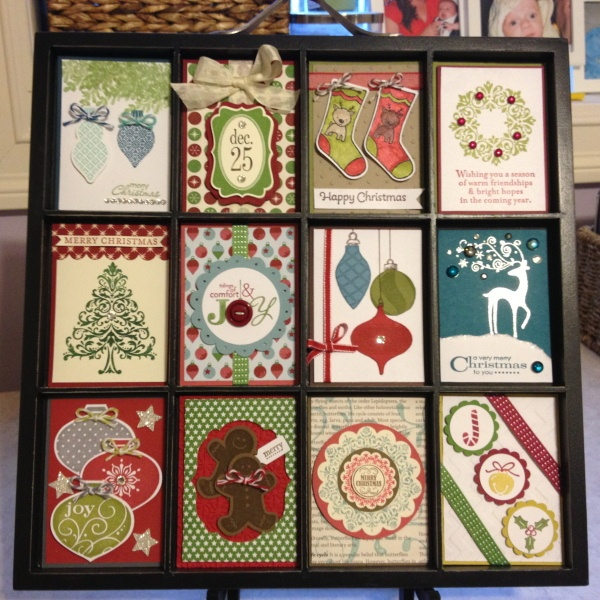 Stampin' Up! Christmas Printer's Tray by Catherine Joy Stockley