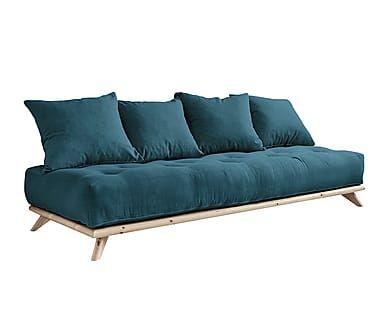 Sofá convertible en cama futón Senza - azul verdoso