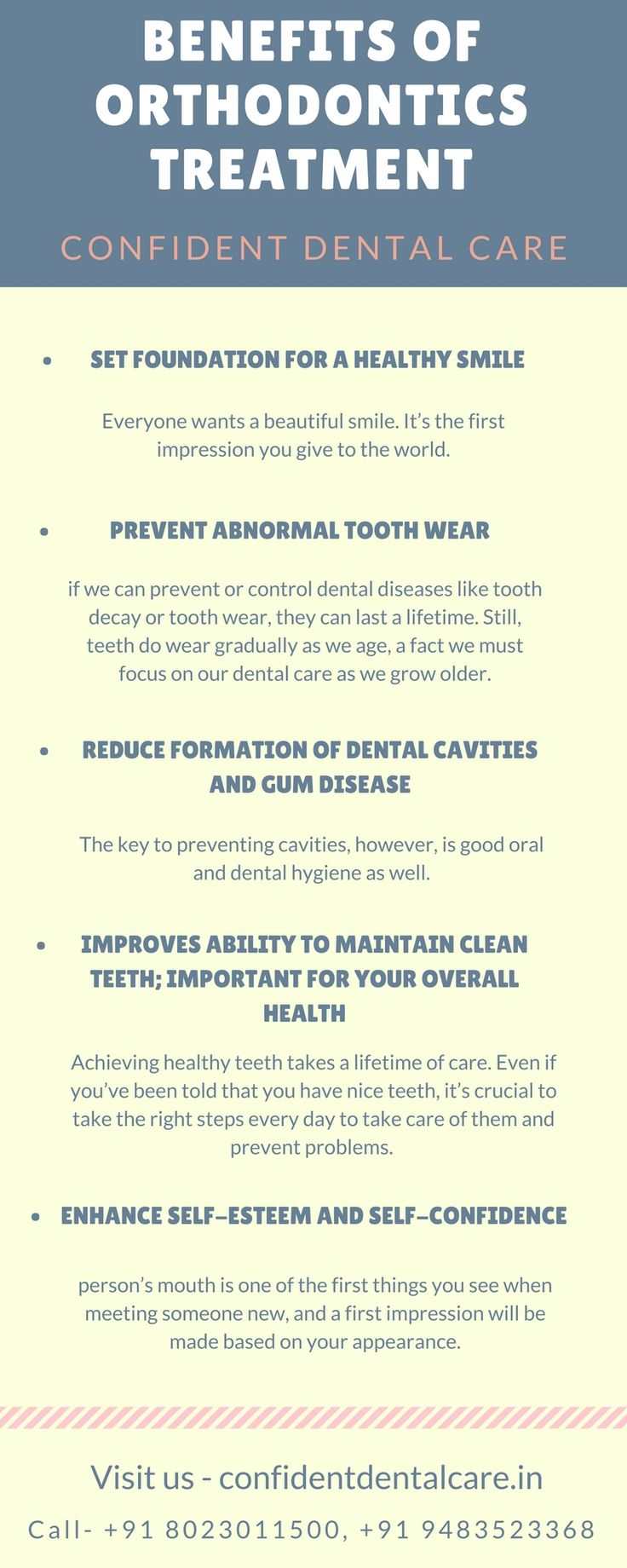 How do you get Benefit From Orthodontics?  Call at +91 80 23011500 +91 94835 23368 for consultation, Know more about Orthodontics treatment at https://goo.gl/rJTk42 #Orthodonticstreatment #Orthodonticsclinic #Dentalclinic #bangaloredentist #DentalCare #Dentist