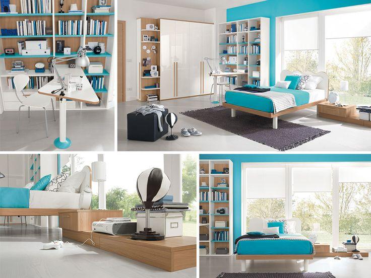 Oltre 25 fantastiche idee su armadio scrivania su pinterest ufficio con armadio angolo - Cameretta con letto una piazza e mezza ...