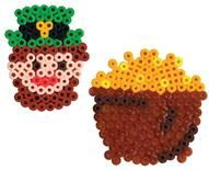 st patrick's day perler bead - Leprechaun and pot of gold perler