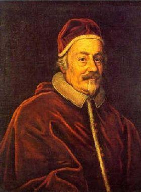 Pape Alexandre VIII (Pietro Ottoboni) pape de 1689 à 1691) - Il ne régna que 15 mois pendant lesquels Louis XIV voulut profiter des dispositions conciliantes du nouveau pontife, qu'il avait contribué à faire élire, et pour se le rendre favorable lui restitua Avignon qu'il avait fait occuper et au droit d'asile de l'ambassade française. Ces concessions n'empêchèrent pas le Pape le 4 aout 1690 de déclarer nulle la Déclaration de 1682 concernant les privilèges gallicans