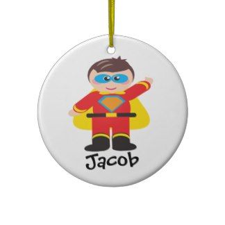 S is for Super Hero Personalized Ornament