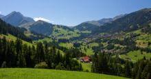 Adelboden, Switzerland:  Village & Mountains