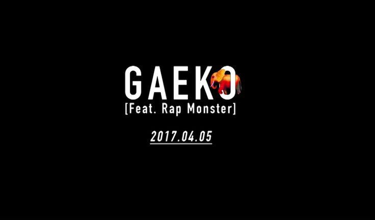 [Gaeko]  '코끼리 (Feat. 랩몬스터)' 2017. 04. 05. 12PM  #개코 #Gaeko #랩몬스터 #RapMonster #방탄소년단 #BTS #코끼리 #Gajah #20170405_12pm