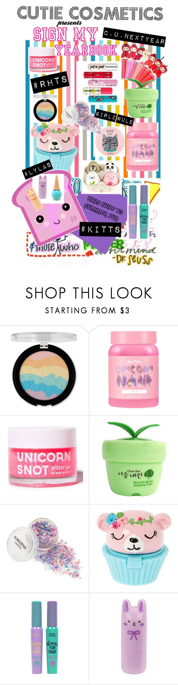 """""""Sign My Yearbook"""" by jennygirlgainer ❤ liked on Polyvore featuring beauty, Etude House, Forever 21, Lime Crime, FCTRY, Holika Holika, TONYMOLY, claire's, Toast and Tony Moly"""