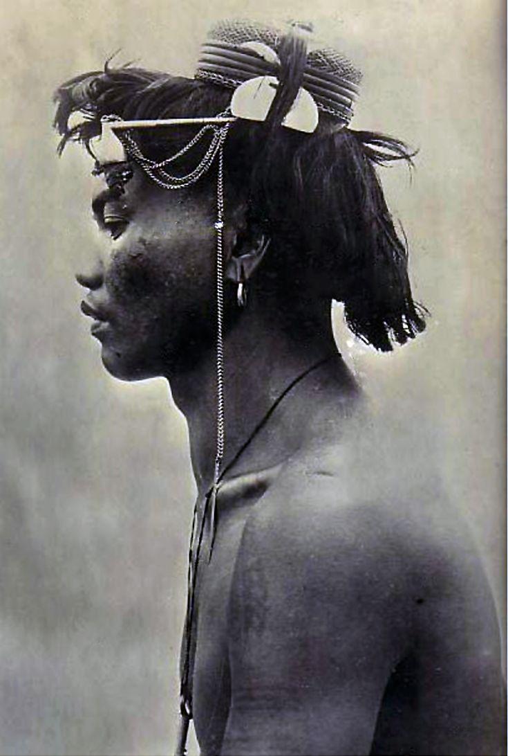 Philippines   A Benguet warrior    Vintage photographic print; ca. 1911