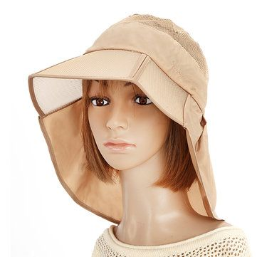 Women Summer Foldable Thin Breathable Wide Brim Beach Hat Outdoor Sport Sunscreen Visor Cap at Banggood