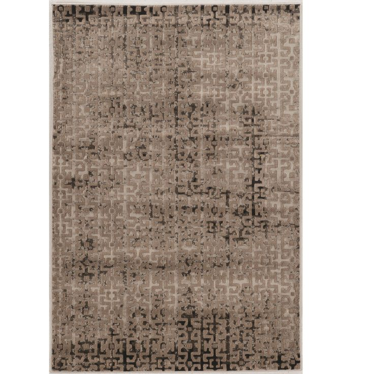 "Linon Power Loomed Jewel Collection Vintage Maze Beige Polypropylene Rug (1'10"" X 2'10"") (Size), Size 2' x 3'"