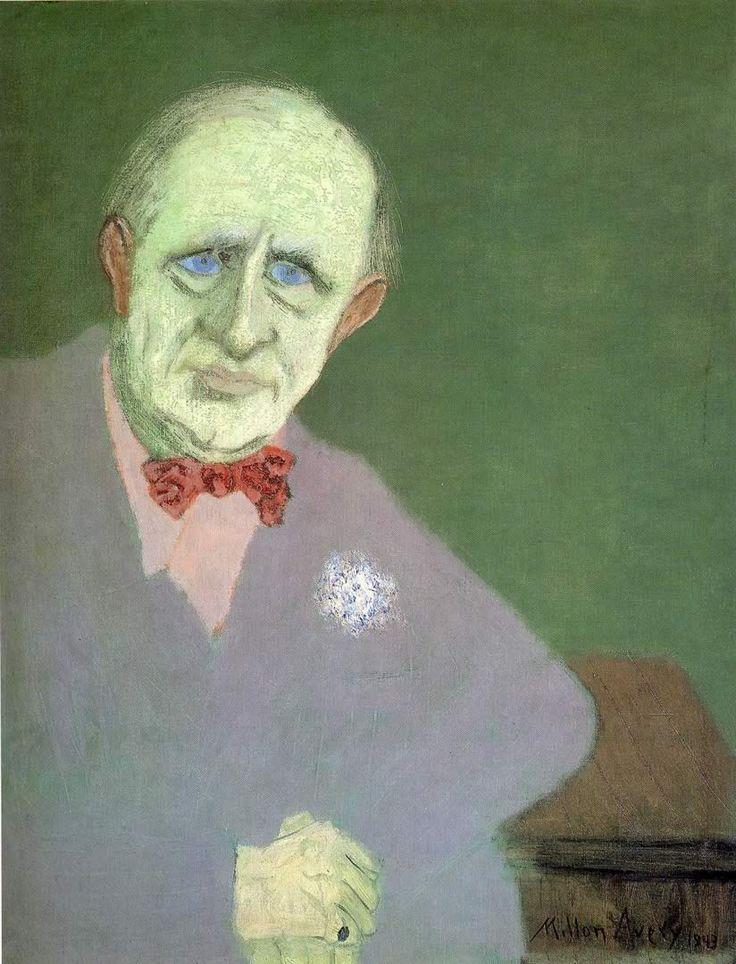 milton avery | Milton Avery, Portrait of Marsden Hartley , 1943. MFA Boston.
