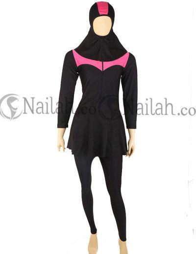Pink Muslimah Swimwear