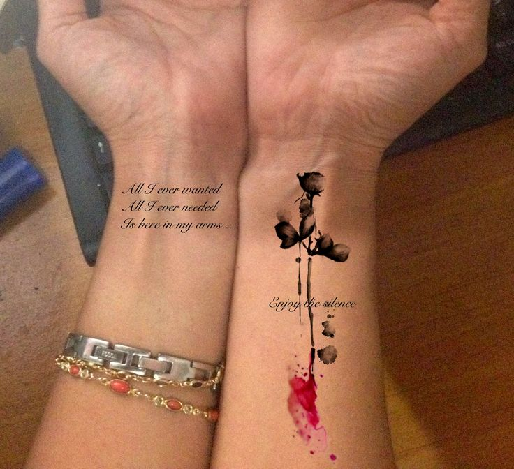 "My love for Depeche mode... for  a long time i wish to make a tattoo, and of course Dm have to make part of it, this line means so much to me, it means my life, work, family, love, lust art, depeche mode, everything!! So i decided to draw my tatto, this is not it yet only how it ll look like.""All I ever wanted all I ever needed its here in my arms."""